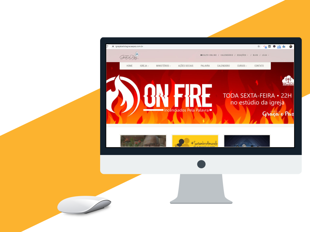 criação de site profissional igreja graça e paz