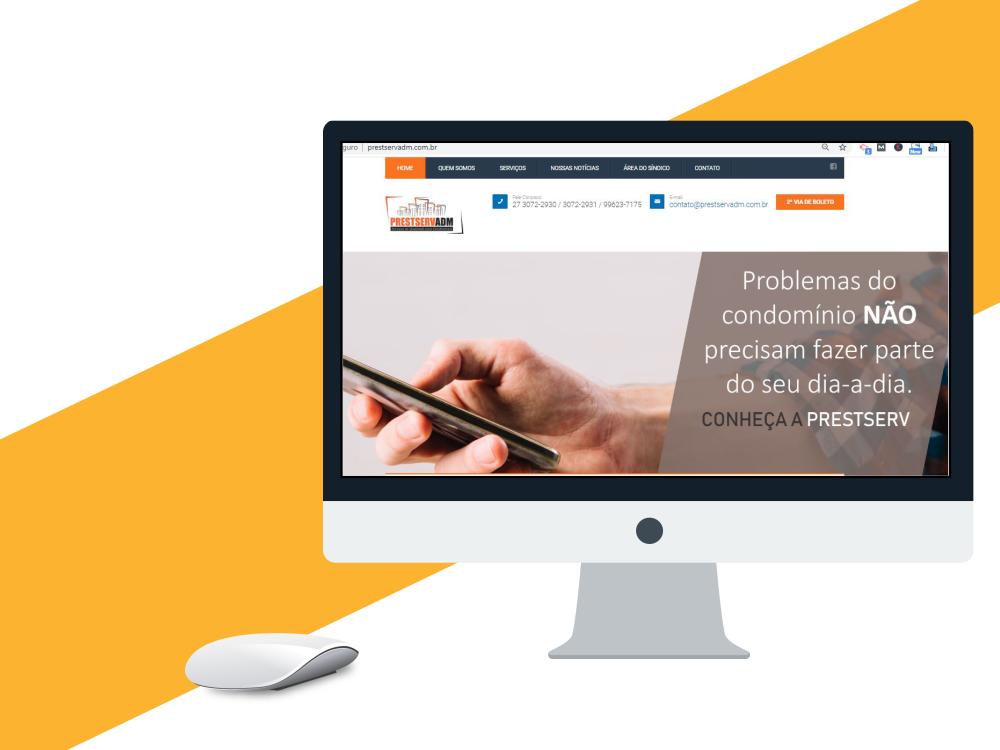 criação de site profissional prestservadm