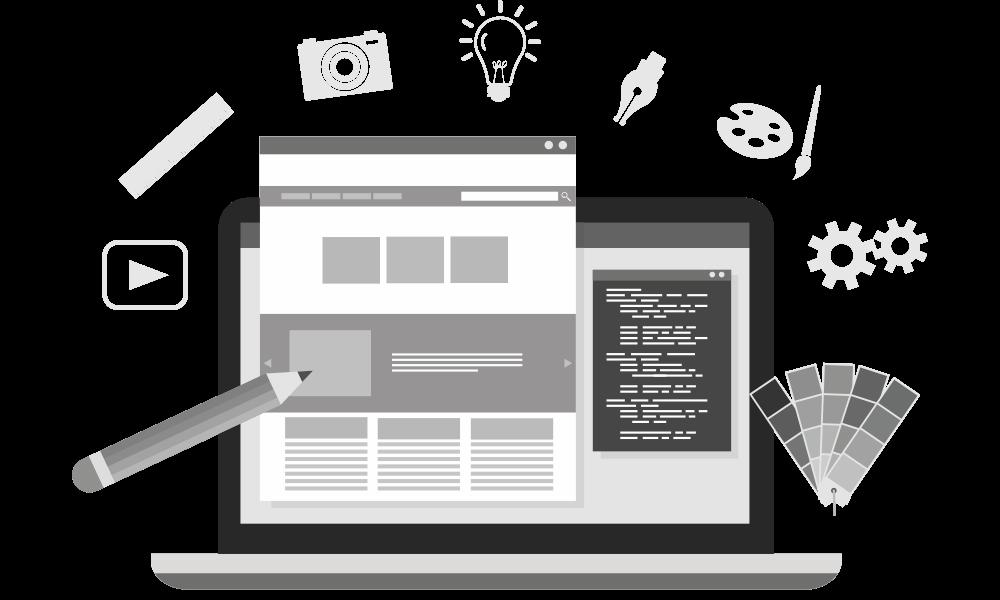 desenho modelo criação de site profissional 1