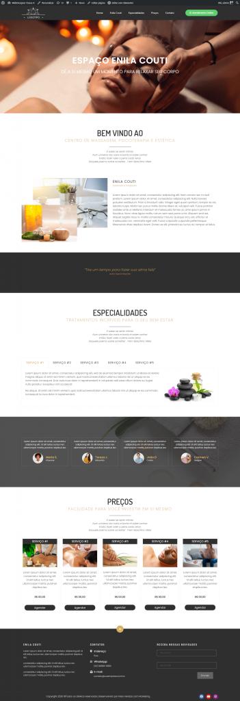 Template 1 criação de site para clínica estética, saúde e bem estar