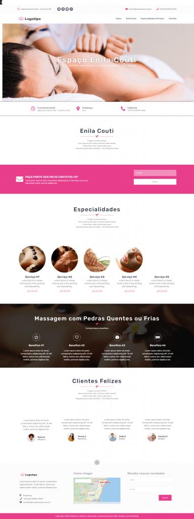 Template 2 criação de site para clínica estética, saúde e bem estar - img