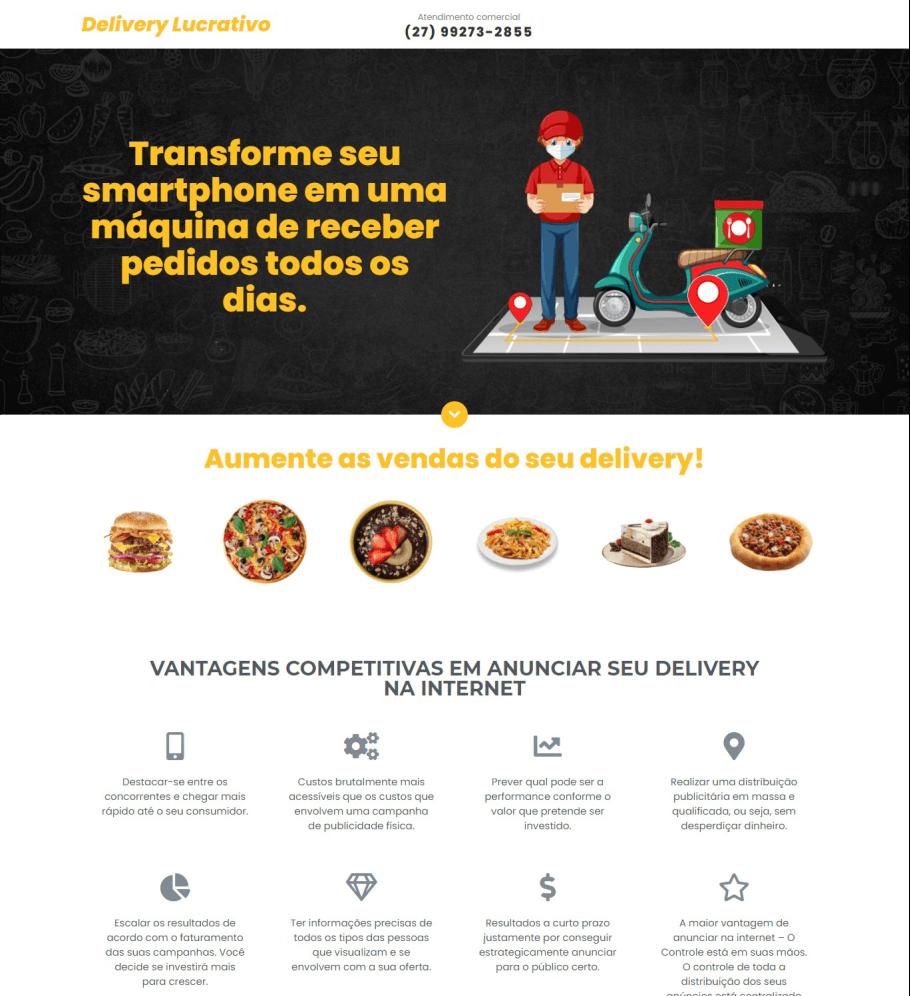exemplos de landing pages venda de serviço delivery (1)